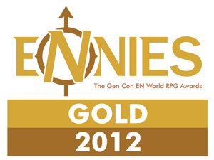Masks and Gnome Stew took home the gold at the 2012 ENnie Awards! THANK YOU!
